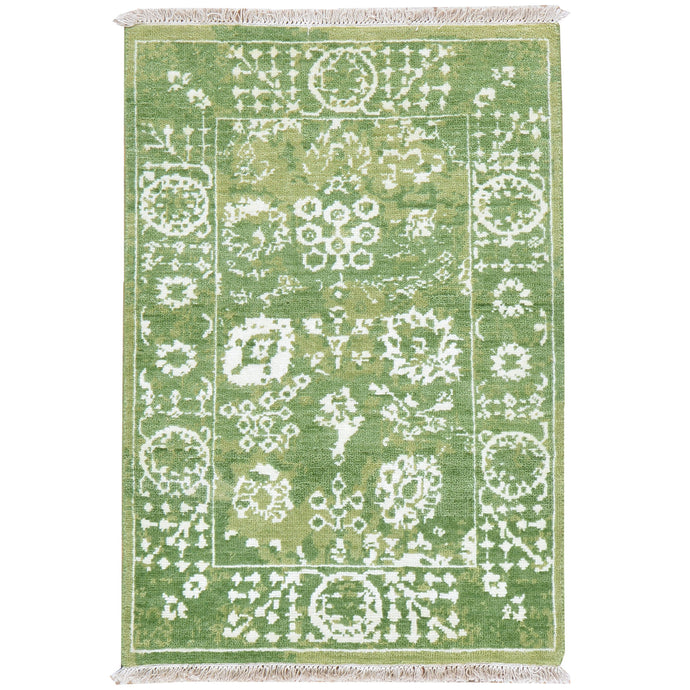 Hand-Knotted Oriental Design Handmade Wool Rug (Size 2.1 X 3.1) Cwral-7998