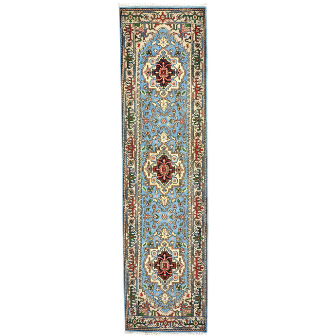 Hand-Knotted Serapi/Hariz Traditional Design 100% Wool Rug (Size 2.8 X 9.11) Brral-1725