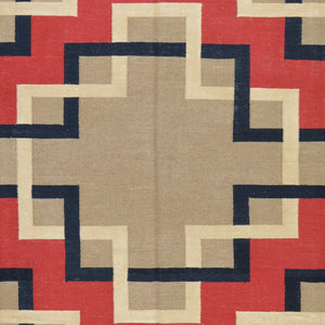 Hand-Woven Southwest Design Wool Reversible Kilim Rug (Size 8.0 X 10.0) Brral-2124