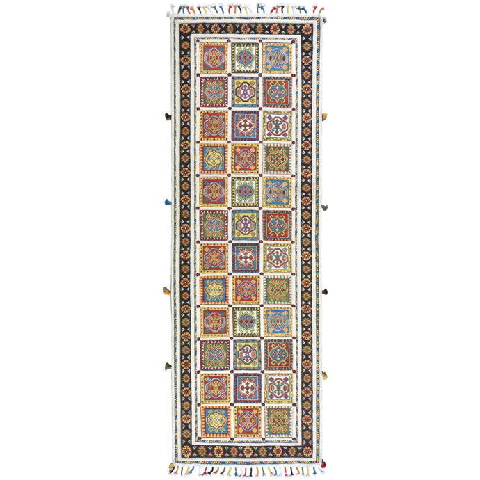 Handmade Multi Weave Soumak Hand-knotted 100% Wool Rug (Size 2.8 X 7.11) Cwral-2787