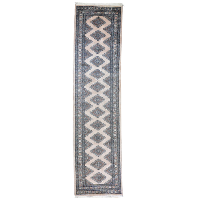 Hand-Knotted  Bokhara Jaldar 100% Wool Handmade Rug (Size 2.7 X 10.2) Brral-2898
