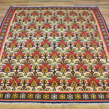 Load image into Gallery viewer, Hand-Woven Reversible Persian Sennah Kilim Village Rug (Size 3.11 X 5.0) Brrsf-447
