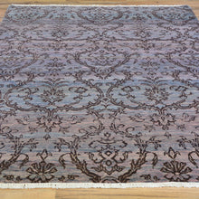 Load image into Gallery viewer, Hand-Knotted Modern Tone on Tone Design Wool Handmade Rug (Size 4.7 X 6.6) Brrsf-660