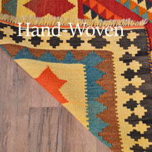 Load image into Gallery viewer, Hand-Woven Persian Kilim Geometric Design Handmade Wool Rug (Size 4.10 X 8.6) Brrsf-1380