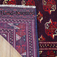 Load image into Gallery viewer, Hand-Knotted Vintage Tribal Afghan Yamut Design Wool Rug (Size 4.3 X 6.3) Brral-501