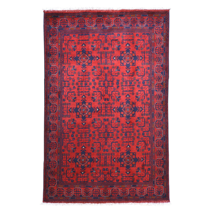 Hand-Knotted Turkmen Khal Mohamadi Design Handmade Wool Rug (Size 4.2 X 6.7) Cwral-6678