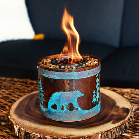 Micro Bear in Mountains - BABY FIRE PITS