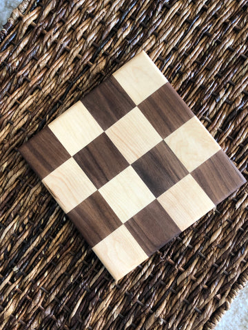 Wood Trivet Board - Checkered/Small - Discounted