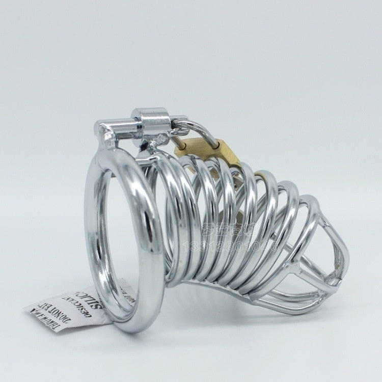 Male Chastity Belt Lock Device Stainless Steel