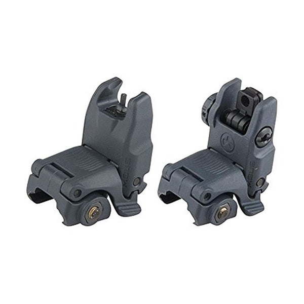 Button Latches Flip-Up Folding Back-up Iron Sight Front+Rear BUIS Gen2