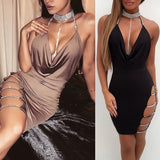 Women Bandage Bodycon Sleeveless Evening Party Cocktail Club Short Mini Dress