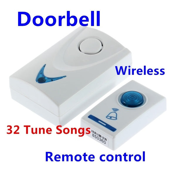 LED Wireless Chime Door Bell Doorbell & Wireles Remote control 32 Tune Songs