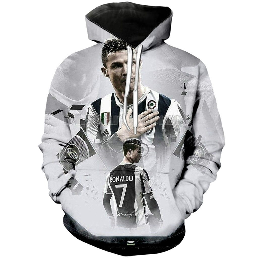 2019 New popular arrival another legend Football soccer Star CristianoRonaldo Print Men Women Hoodies/pullover