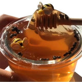 1 Pc 60ML Slime Toys for Children Bee Honey Transparent Thermal Clay Slijm Speelgoed Cloud Slime