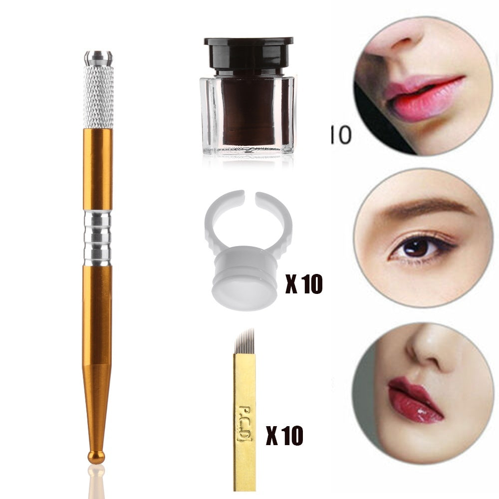 Beauty Permanent  Body Makeup Tool Practice Eyebrow Kit Eyebrow Tattoo Pen Microblading  Eyebrow Needle