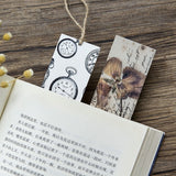 30 PCs/lot Creative Gifts Stationery Film Bookmark Cartoon Retro Collection Message Card