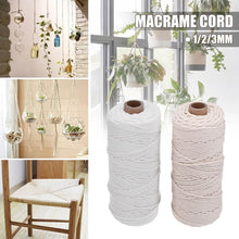 将图片加载到图库查看器,1/2/3mm 100m Off White/White Cotton String Natural Twisted Cord Crafts Wire Macrame Crochet DIY Home Decorations
