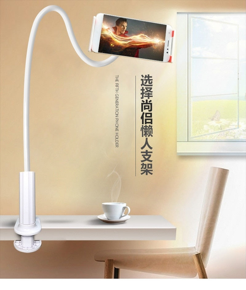 Universal 360 Rotating Flexible Phone Stand Long Arm lazy Holder Clamp Bed Desktop Selfie Mount Holder For Smart Phone