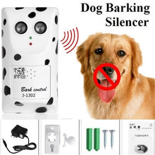 将图片加载到图库查看器,Anti Bark Dog Silencer Ultrasonic Dog Repellent Wall-mounted Dog Bark Control Voice-activated Anti Barking Device Bark Stopper for Small To Medium Dog US/UK/EU/AU Plug