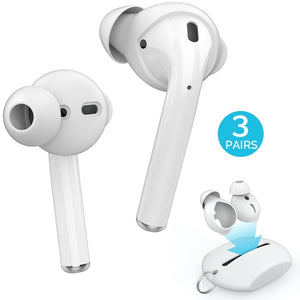 3 Pairs Silicone In-ear Headset Earbuds Cover for Apple Airpods