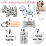 Anti-lost Stainless Steel Dog ID Tag Engraved Pet Cat Puppy Dog Collar Accessories Telephone Name Tags Pet ID Tags