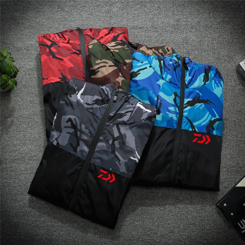 Daiwa Fishing Clothing Quick Dry Fishing Clothes Outdoor Sport Dawa Fishing Shirts Mens Breathable Camouflage Fishing Jackets