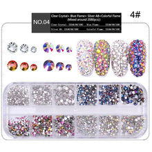 将图片加载到图库查看器,1 Box 12 Nail Art Rhinestones Multi Size Flat-back AB Crystal 3D Charm Gems Glittering Mermaid Sparking Decoration DIY