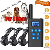 Electric Pet Dog Shock Collar with Beep Vibration and Shock Electronic Collar belt for 1-3 Dogs Trainer