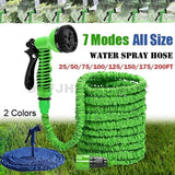 25FT-200FT Garden Hose Expandable Flexible Plastic Hoses Water Pipe with Sprayer