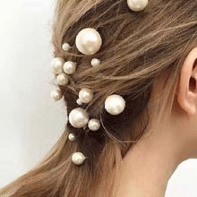 将图片加载到图库查看器,20Pcs/box Pearl U-shaped Pin Hairpin Bridal Tiara Hair Accessories Wedding Hairstyle Design Tools Disk Hair Haippins