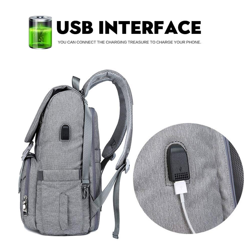 USB Charging Large Capacity Diaper Bag Backpack Large Capacity Nappy Bag Travel Backpack Designer Nursing Bag With Changing Pad For Baby Care
