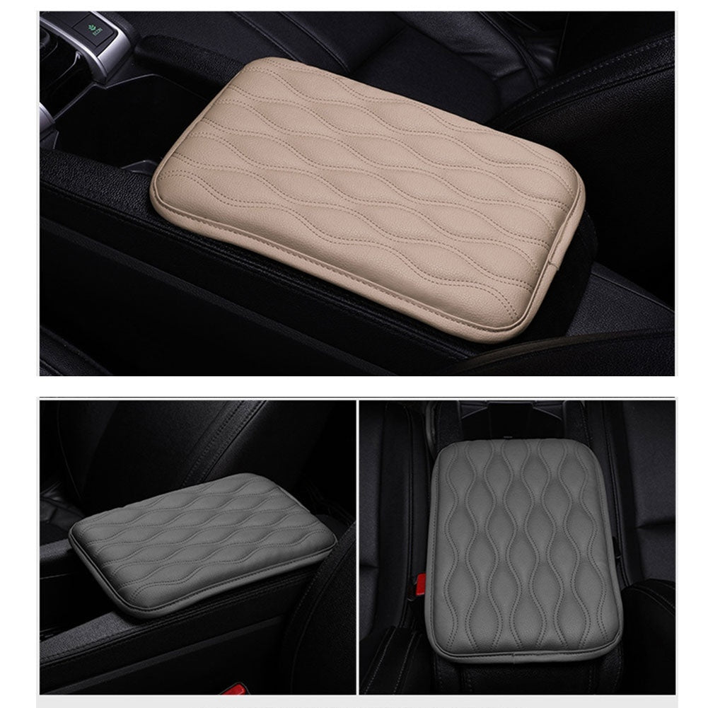 1PC Universal Car SUV Armrest Pad Cover Auto Center Console Box PU Leather Cushion