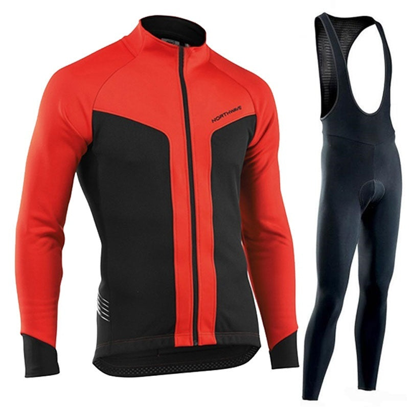 2019 Men's Winter Cycling Jersey High Quality Long Sleeve Cycling Jersey Suit Outdoor Riding Bike MTB Clothing Bib Pants Set Ropa Ciclismo Bicycle MTB Bike Clothing