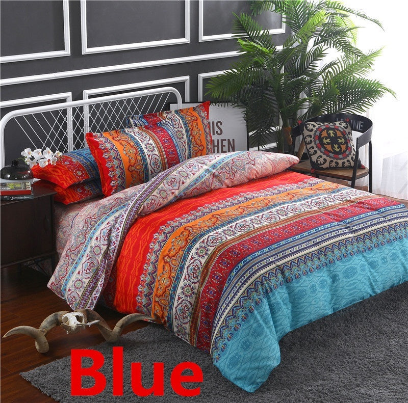 6 Style  Aztec Bed Set Southwestern Comforter Cover Geometric Ethnic Bedspread Bohemian Colorful Totem Bedding Set Twin Full Queen King Size