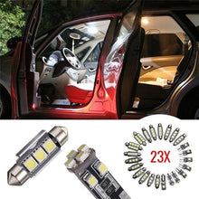 将图片加载到图库查看器,14 PCS / 23 PCS LED Car Inside Light Kit Dome Auto Trunk Mirror License Plate Lamp Bulbs