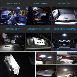 14 PCS / 23 PCS LED Car Inside Light Kit Dome Auto Trunk Mirror License Plate Lamp Bulbs
