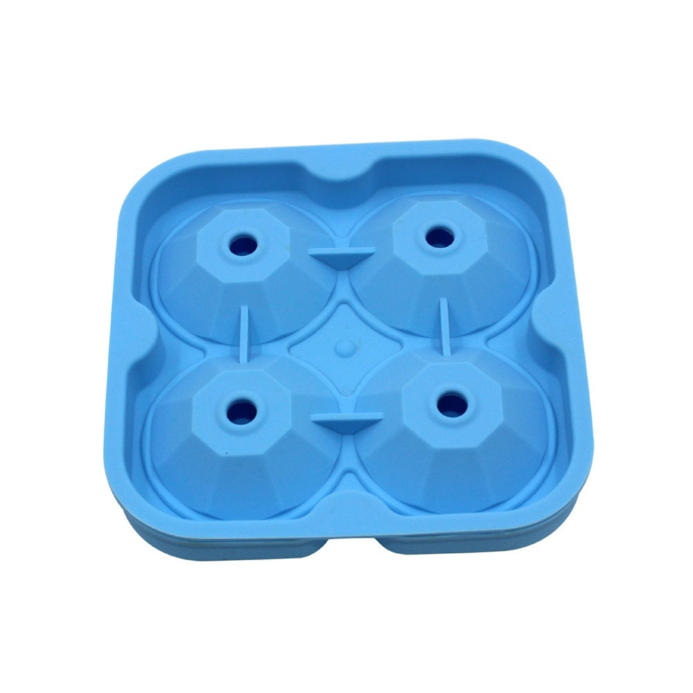 Diamond Shape 3D Ice Cube Mold Maker Bar Party Silicone Ice Maker Chocolate Mold Kitchen Tool