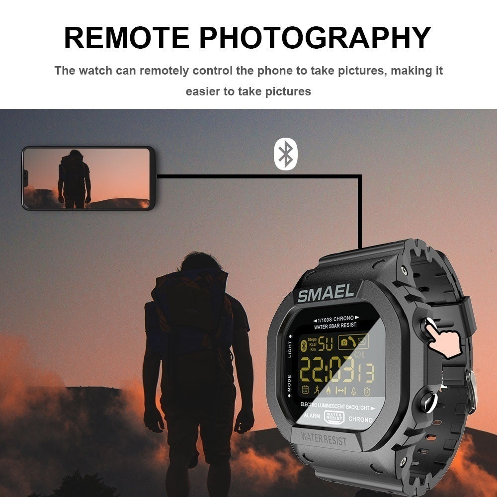 2019 New Bluetooth Smart watch men Sport pedometer Waterproof Call Reminder clock digital SmartWatch For ios Android Phone