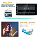 7\ Bluetooth Double 2Din Autoradio Mit GPS AM/FM MP5 Player Car Audio Stereo Radio USB Adroid 8.1with WIFI Suppport Rear Camera