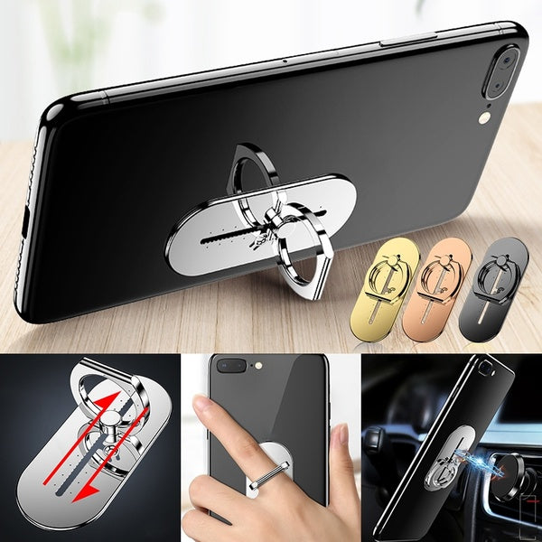 Mobile Phone Holder Universal 360 Degree Rotation Finger Ring Holder Magnetic Car Bracket Stand Phone Accessories for iPhone