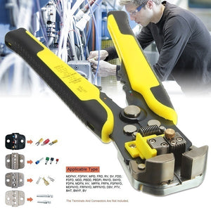 Automatic Cable Wire Stripper crimping plier Self Adjusting Crimper
