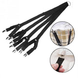 Adjustable Bed Sheet Straps Suspenders Gripper Fastener For Round And Square Mattress
