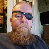 Leather Eye Patch with Adjustable Buckle - Not Touching The Eye