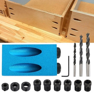 Oblique Hole Locator Drill Bits for Woodworking 15 Degrees Dowel Drill Joinery Kit Angle Locator Tool