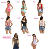 New Plus Size Women's Lace Stitching Woven Backless Cross Straps Underwear Women's Bodysuit Lingere S-3XL