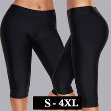 将图片加载到图库查看器,Women Simple Plain Swim Leggings Swim Pants