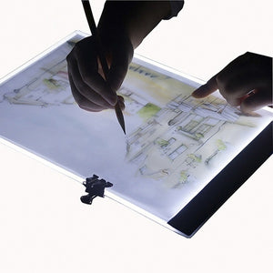 A5 Led Drawing Tablet Thin Art Stencil Drawing Board Light Box Bracing Table Pad 24*15cm