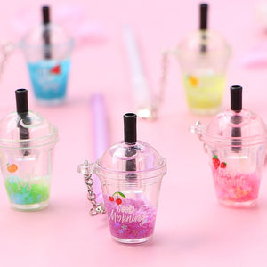 0.5mm Gel Pen Kawaii Drink Cup Pendant Neutral Pens for School Writing Office Supplies Stationery