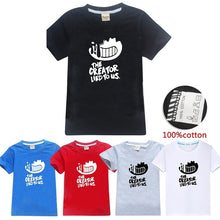 将图片加载到图库查看器,Fashion Cool Bendy and The Ink Machine Printed Kids T-shirt Boys and Girls Summer Tops Short Sleeve O Neck Cotton Casual Tees