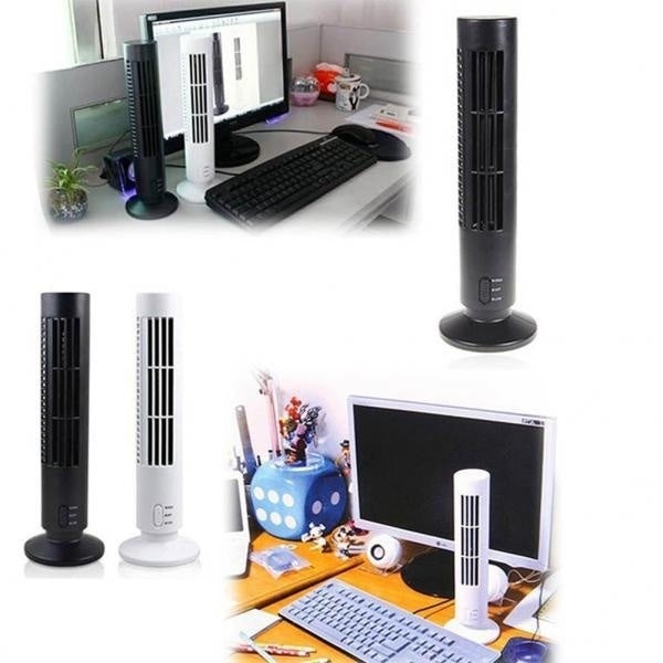Portable USB Bladeless No Leaf Air Conditioner Cooling Cool Desk Electric Fan